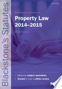 Blackstone's Statutes on Property Law 2014-2015