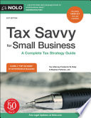 Tax Savvy for Small Business Book