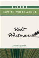 Bloom's How to Write about Walt Whitman ebook