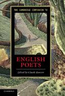 The Cambridge Companion to English Poets