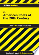 CliffsNotes on American Poets of the 20th Century Book PDF