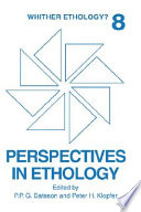Perspectives In Ethology Book PDF