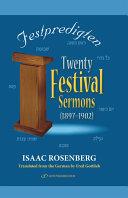 20 Festival Sermons  1897 1902