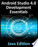 Android Studio 4.0 Development Essentials - Java Edition