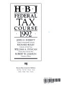 Hbj Federal Tax Course  1992