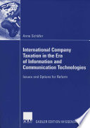 International Company Taxation In The Era Of Information And Communication Technologies Book PDF