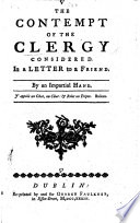 The Contempt Of The Clergy Considered Book PDF