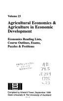 Agricultural Economics Agriculture In Economic Development