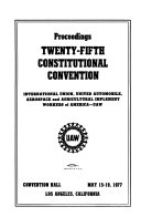 Proceedings Constitutional Convention