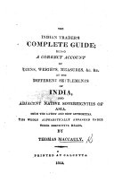 The Indian Trader's complete Guide, etc