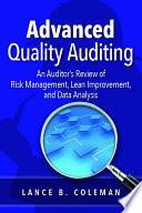 Advanced Quality Auditing