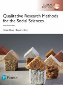 Cover of Qualitative Research Methods for the Social Sciences, Global Edition