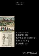 A Handbook of English Renaissance Literary Studies