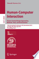 Human Computer Interaction  Human Centred Design Approaches  Methods  Tools and Environments