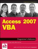Access 2007 VBA Programmer s Reference