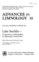 Advances In Limnology Book PDF
