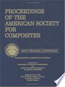 American Society of Composites  Ninth International Conference Proceedings Book