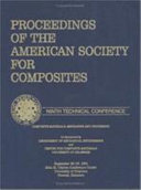 American Society of Composites  Ninth International Conference Proceedings