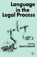 Language in the Legal Process Pdf/ePub eBook