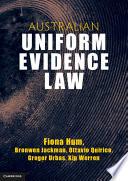 Cover of Australian Uniform Evidence Law