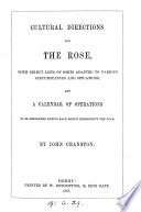 Cultural directions for the rose Book