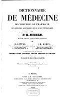 Dictionnaire de médecine, de chirurgie, de pharmacie, des sciences accessoires et de l'art vétérinaire