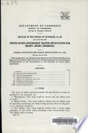 United States Government Master Specification for Brown Denim  unshrunk   Federal Specifications Board  Specification No  255a  Rev  June 15  1925 Book