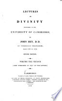 Lectures in Divinity Delivered in the University of Cambridge