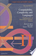 Computability  Complexity  and Languages