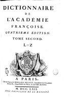 Dictionnaire de l'Académie françoise ... Tome premier [-second]