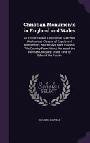 Christian Monuments in England and Wales: An Historical and ...
