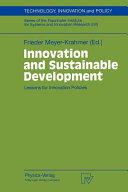 Innovation and Sustainable Development Book