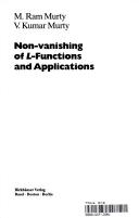 non vanishing of l functions and applications murty m ram murty v kumar