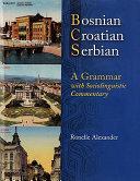 Pdf Bosnian, Croatian, Serbian, a Grammar Telecharger