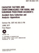 Causative Factors and Countermeasures for Rural and Suburban Pedestrian Accidents