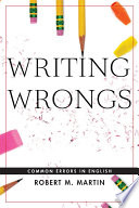 Writing Wrongs Book
