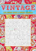 Vintage Coloring Book & Word Search
