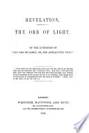 Revelation The Orb Of Light By The Authoress Of The Orb Of Light
