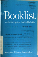 The Booklist And Subscription Books Bulletin Book PDF