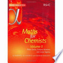 Maths for Chemists  Power series  complex numbers and linear algebra Book