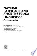 Natural Language and Computational Linguistics