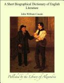 Biographical Dictionary of English Literature [Pdf/ePub] eBook