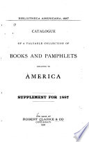 Bibliotheca Americana 1887