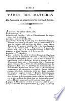 Annuaire statistique [afterw.] Annuaire du département du Nord. An xi-1890