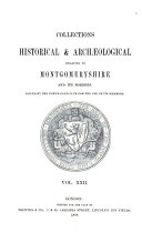 Collections Historical   Archaeological Relating to Montgomeryshire