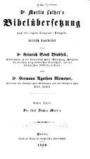 Martin Luther's Bibelübersetzung, Nach Der Letzten Original-Ausg ebook