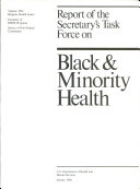 Report of the Secretary s Task Force on Black   Minority Health  Hispanic health issues  Inventory of DHHS programs  Survey of non federal community