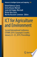 ICT for Agriculture and Environment