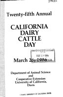 California Dairy Cattle Day