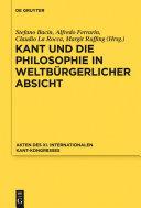Pdf Kant und die Philosophie in weltbürgerlicher Absicht Telecharger
